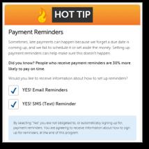 backontrack nudge for payment reminder enrollment